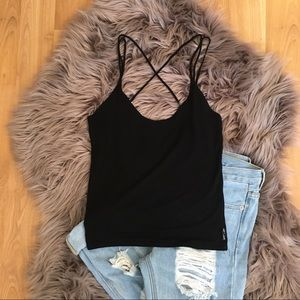 Armani Exchange Black Cami Top Medium AX